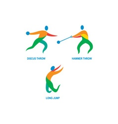 Hammer Throw Discus Throw Long Jump Icon vector image