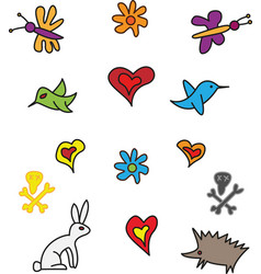 hand drawn symbols vector image