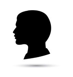 head icon isolated on white background vector image