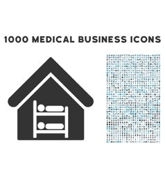 Hostel Icon with 1000 Medical Business Symbols vector image vector image