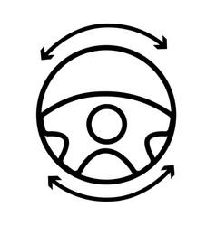 Line steering wheel futuristic car innovation vector