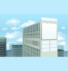 billboard on building cityscape composition vector image vector image