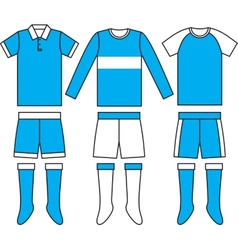 Different football Soccer uniforms vector image vector image