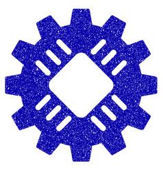 hardware gear icon grunge watermark vector image