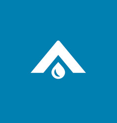 letter a water drop logo icon design template vector image vector image