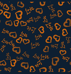 Love world and hearts shape hand drawn seamless vector