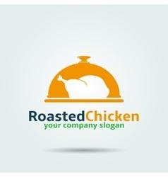 Roasted chicken logo vector image vector image