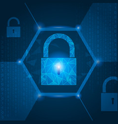 safety network security concept blue abstract vector image