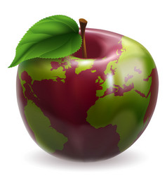 globe apple concept vector image