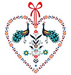 Love Peacocks vector image