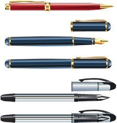 ball point pens vector image