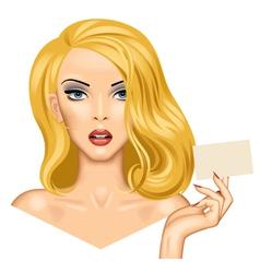 Blonde girl vector image vector image