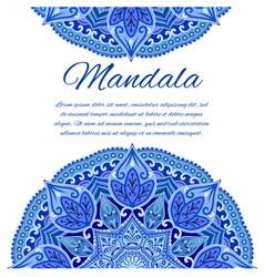 card with mandala geometric circle element vector image vector image