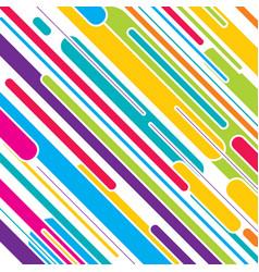 colorful stripe pattern design vector image vector image
