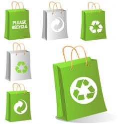 green bags vector image