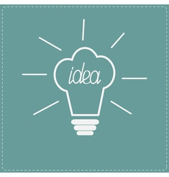 Idea light bulb in shape of chef hat Flat design s vector image vector image
