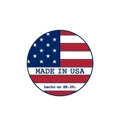 Made in usa stamp with flag vector