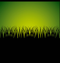 Nature grass field background vector