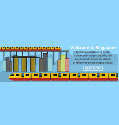 welcome to singapore banner horizontal concept vector image vector image