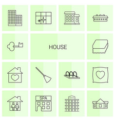 14 house icons vector