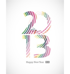 2013 and Happy New Year vector