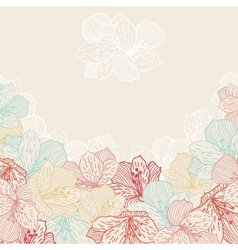 abstract elegance seamless flower background vector image