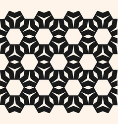 abstract geometric monochrome seamless pattern vector image