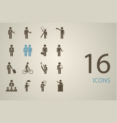 Assembly people silhouettes stick figure vector