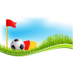 background for football soccer sport vector image