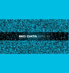 Big data visualization blue abstract data vector