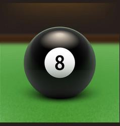 Billards eight ball vector