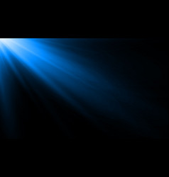 blue neon light ray or sun beam background vector image