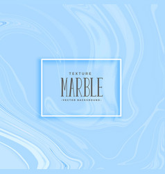 Blue smooth marble texture background vector
