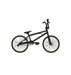 BMX Bike Black Silhouette vector