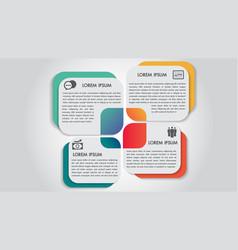 business infographics 4 steps options design vector image
