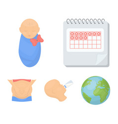Calendar newborn stomach massage artificial vector