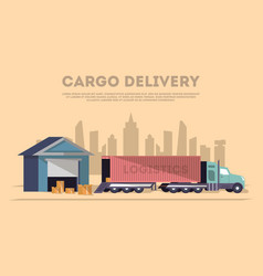 cargo delivery and logistics banner vector image