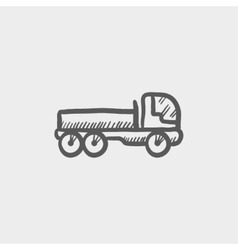 Cargo truck sketch icon vector image