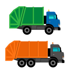 Cartoon garbage trucks vector