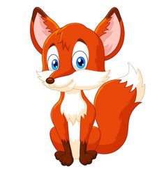 cartoon of cute fox animal cha vector image