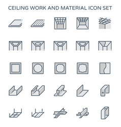 Ceiling work icon vector