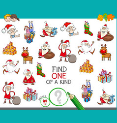 Christmas one of a kind cartoon game vector