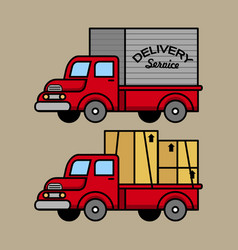 classic courier truck vector image