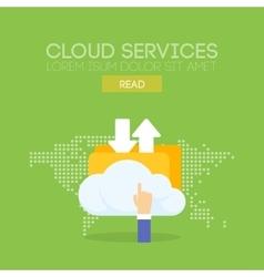 Cloud service banner concept vector image