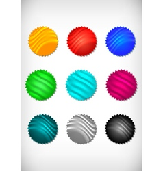 Colorful sticker collection vector image