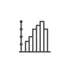 column chart line icon vector image