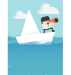 concept business leadership and goal vector image