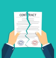 Contract breach and break terminate vector