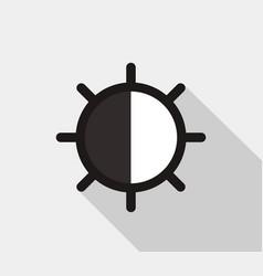 contrast icon vector image