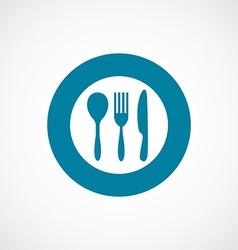 Cutlery icon bold blue circle border vector